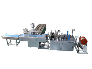 Automatic greeting card bagging machine _ notebook self-adhesive bag packaging machine _ folder heat